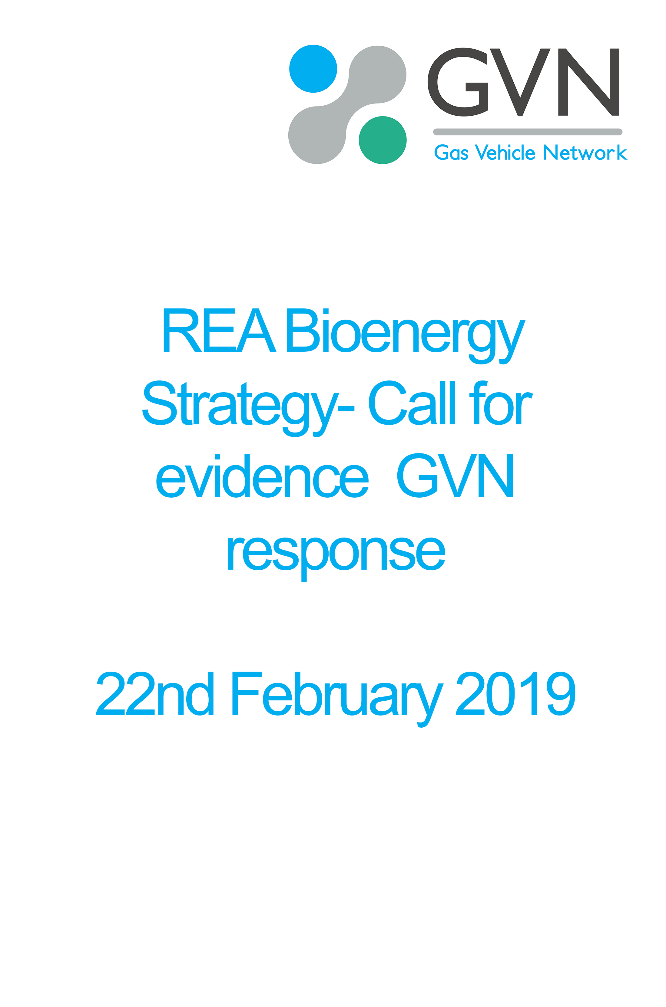 REA Bioenergy Strategy-Call for evidence