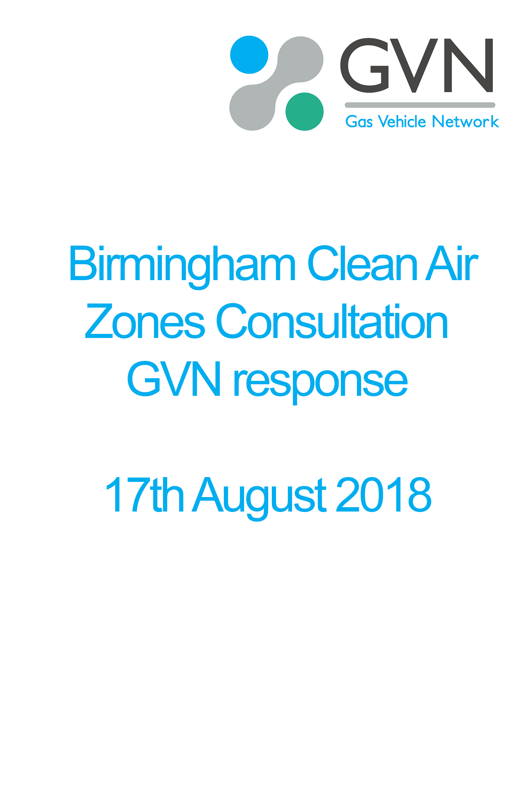 Birmingham Clean Air Zone consultation response image